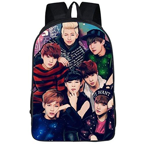 JUNG KOOK Kpop BTS GOT7 Backpack Laptop Bag Jimin SUGA V Messenger Bag