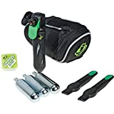 Saddle Bag Kit with Tire inflator, patches, and co2 inflator - what to do when you get a flat