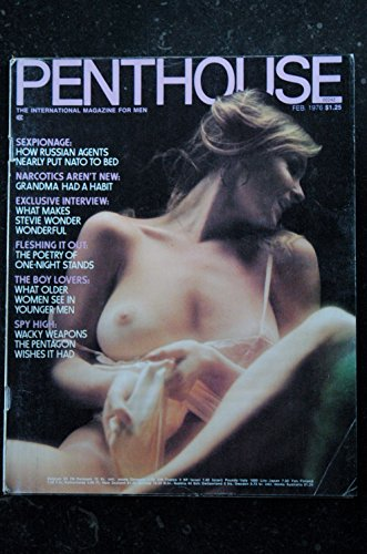 PENTHOUSE US 1976/02 Amber Marie Martine Le Mauviel Stevie Wonder Do Teenage Boys Really Get off on Older Women? R Philip