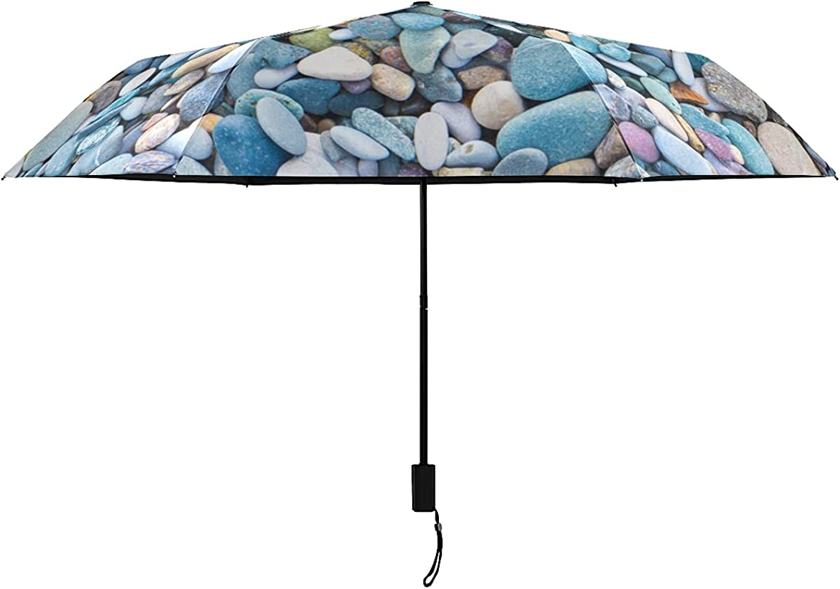Womens Umbrella Windproof Smooth Round River Sales for sale Colorful Trav Rocks List price