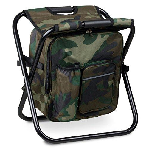 Prachtfisch Komfort Rucksack-Angelhocker mit Kühltasche Farbe: camouflage