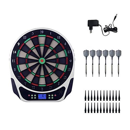 ZXL Elektronische Dartscheibe, 6 Soft-Head Darts, 24 Dartköpfe, Blue HD LCD Display, elektronische Record Darts Score, 18 Arten Spiele 159 Arten Spielen, für Kinder und Erwachsene