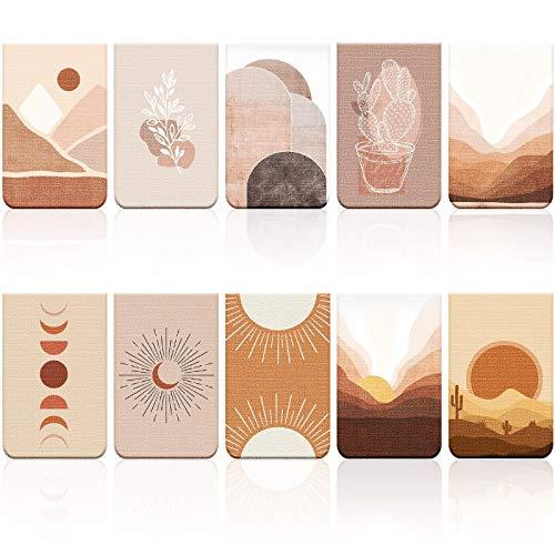 10 Stücke Magnetische Lesezeichen Sonnen Magnet Seitenmarkierungen Sortierte Inspirierende Buch Markierungen mit Landschaft für Schüler Lehrer Lesen
