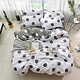 SHJIA Textilprodukt Bettwäscheset Bettwäsche aus ägyptischer Baumwolle Stickerei Bettwäsche Bettwäscheset Bettlaken Grau 220x240cm