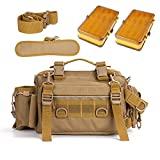 YLINSHA Fishing Tackle Bag, with Two Doublesided Tackle Box,Portable Tactical Fishing Pocket,with Tackle Boxes Bishing Bags, A Reasonable Size Layout, for Outdoor Brackish Freshwater Fly Fishing