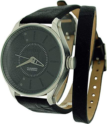 Firetrap FT1058BS - Orologio da polso, cinturino in pelle colore nero