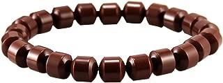 eleeColorful Power Health Ion Tourmaline Beads Stretch Bracelet Wristband Balance w/Box (Brown)