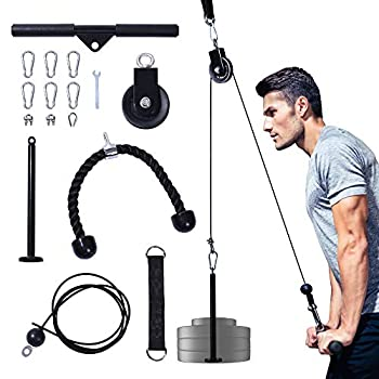 Upgraded LAT Pulldown Cable Pulley Attachments System Gym Equipment,Adjustable Pull Down Machine for Professiona Exercise Biceps Curl,Back,Forearm Shoulder - Exercise Equipment for Home Workouts