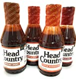 Head Country Barbecue Sauce Apple Habanero, Original, Hickory Smoke, Hot & Spicy 20 oz (Variety Pack of 4)