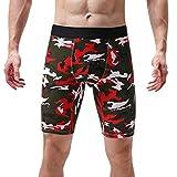 U/A Sports - Calzoncillos largos para hombre (talla grande, sexy, cómodos y suaves) Rojo granate XXL