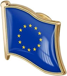 LAVALINK Bandera 1pc Unión Europea Pin De La Solapa del Esmalte del Metal De La Broche De La Unión Europea Bandera De La N...