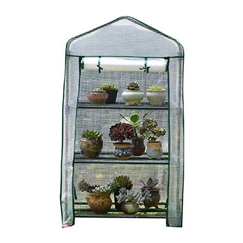 Serres 3 Tier Mini Plastique PE, Jardin Smart for Intérieur Extérieur Herb Flower Garden Balcon Cultivez Maison Portable (Color : A)