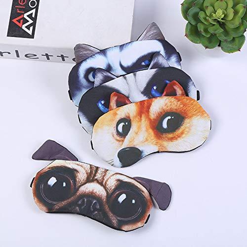LBHH 4 Piezas Mascara para Dormir Antifaz Máscara para Niños,Niñas,Mujeres Mascara de Ojos Divertido Animal 3D Sueño Antifaz Viajes Resto Mascara para Dormir Antifaz