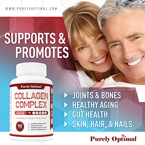 Premium Multi Collagen Peptides Capsules (Types I, II, III, V, X) - Anti-Aging, Hair, Skin and Nails, Digestive & Joint Health Supplement, Hydrolyzed Collagen Pills, Women & Men (90 Collagen Capsules) 5