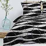 Bettwäsche Deluxe 3 Teilig aus 100% Baumwolle Renforce mit Reißverschluss Bettwäscheset 1...