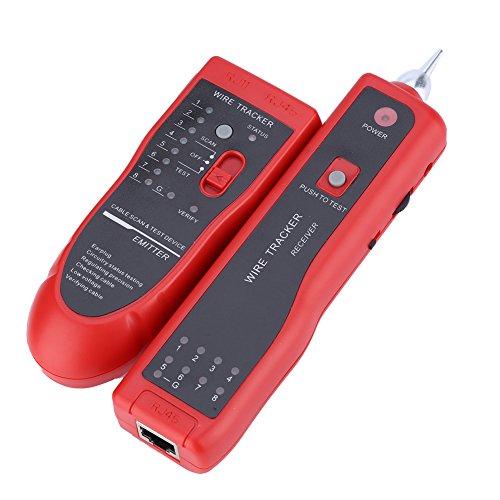 PUSOKEI Buscador de línea de rastreador de Cables telefónicos, probador de Cables UTP STP RJ45 RJ11, para clasificación de Cables de Red, probador de líneas telefónicas, verificación de continuidad