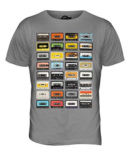 Candymix Retro Kassetten Herren T Shirt, Größe X-Large, Farbe Hellgrau