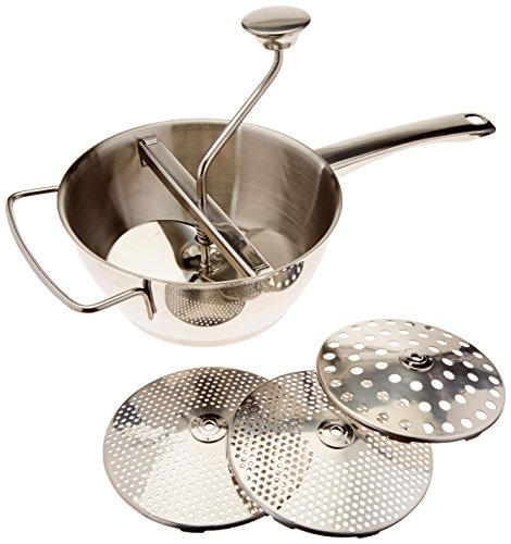 WINWARE Stainless Steel Vegetable Mill, 2 Quart -- 1 set., Set of 3
