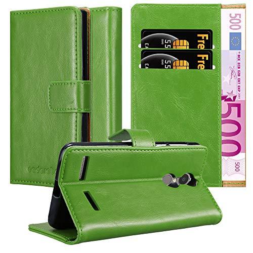 Cadorabo Hülle für Lenovo K6 / K6 Power in Gras GRÜN – Handyhülle mit Magnetverschluss, Standfunktion & Kartenfach – Case Cover Schutzhülle Etui Tasche Book Klapp Style