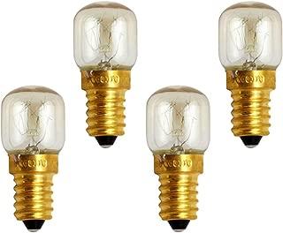 Forno Lampada e14 300 ° 40w chiaro forma gocce 2 pezzi forno lampada