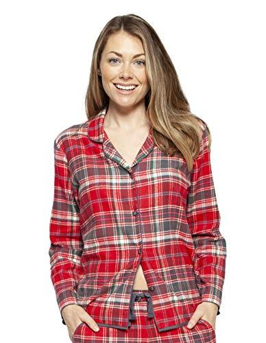 Cyberjammies 4254 Women's Belle Red Mix Check Cotton Pyjama Top 40