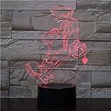 Lixiaoyuzz Nachtlampe Usb 3D Led Multicolor Dekorative Lichter Jungen Kinder Baby Geschenke Spiel...