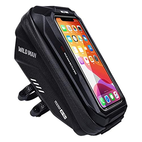 lahomia Soporte Impermeable para Bicicleta, Manillar, para Teléfono Celular - Negro