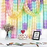 BETESSIN 6 STK Vierblättriges Kleeblatt Girlande Papier Pastellfarben Mehrfabig Banner Deko für Hochzeit Geburtstag Party Karneval Fasching Festfeier Geburtstagsgirlande Partygirlanden Dekoration - 5
