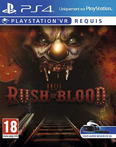 Sony Until Dawn: Rush of Blood VR, PS4 Básico PlayStation 4 Francés vídeo - Juego (PS4, PlayStation 4, Supervivencia / Horror, M (Maduro), Se requieren auriculares de realidad virtual (VR))