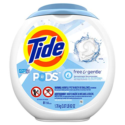 81-Count Tide Free and Gentle Laundry Detergent Pods Unscented for 18.99