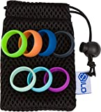 100% natural y segura Silo silicona anillos de boda–Hombres Mujeres Banda de–(4Set + bolsa), 5.5mm (3 Ring Bag)