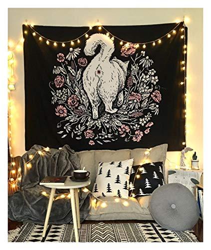 TYLJ MYBHD Tapicería de la Pared for Colgar tapices de la Pared decoración Fresca Negro (Color : 3, Size : 150x100 cm)
