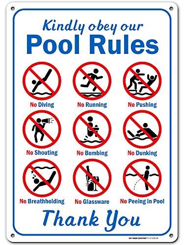 My Sign Center Kindly Obey Schwimmbad-Sicherheitsschild