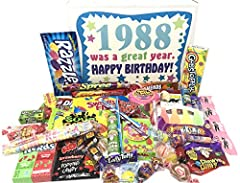 CLASSIC CANDIES: Vintage and hard-to-find candies they'll remember from childhood A PERFECT GIFT: Great for anyone with a sweet tooth, including hard-to-shop-for friends and family members LOTS OF VARIETY: 36 different candy types including Ring Pop,...