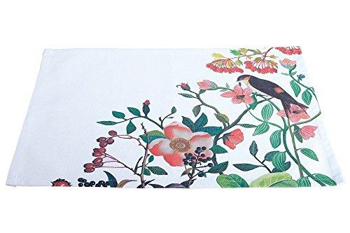 Gilde Set de table Bella Vita avec desn fleurs et le décor d'oiseaux \