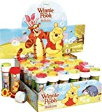 Fancy Me Box of 36 or 6 Pots of Boys Girls Bubbles Party Loot Bag Stocking Fillers Garden Game Ideas (6 Pots, Winnie the Pooh)