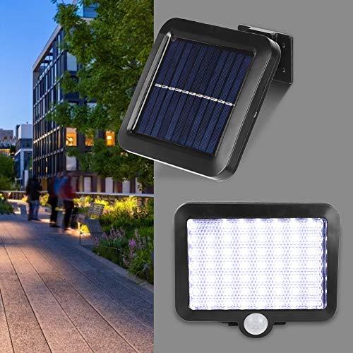 Keyren - Lámpara solar de pared (gran capacidad, luz solar, 56 LED, patio de entrada, patio para valla