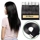 14'(35cm) Extensiones Adhesivas de Cabello Natural Pelo 100% Remy Invisble Tape in Hair...