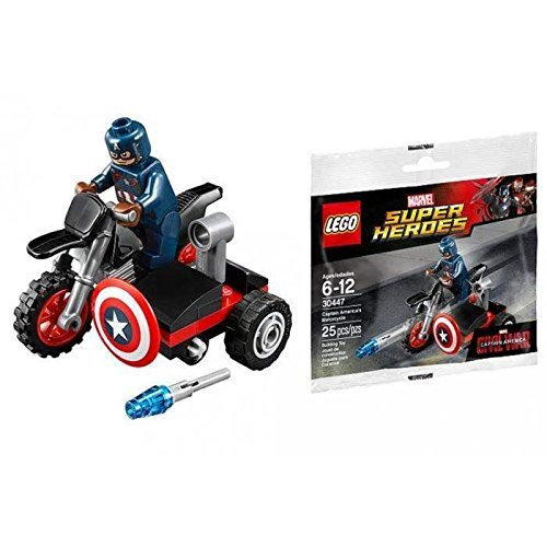 LEGO MAVEL SUPER HEROES - 30447 - CAPTAIN AMERICA MOTORCYCLE Collector POLYBAG