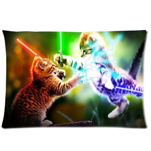 Denise Love Bright Two cat Fights Pillow Hülles Cover,pillow couch 20x30inch (Two sides)