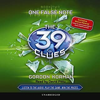 The 39 Clues, Book 2     One False Note              Auteur(s):                                                                                                                                 Gordon Korman                               Narrateur(s):                                                                                                                                 David Pittu                      Durée: 4 h et 8 min     2 évaluations     Au global 5,0