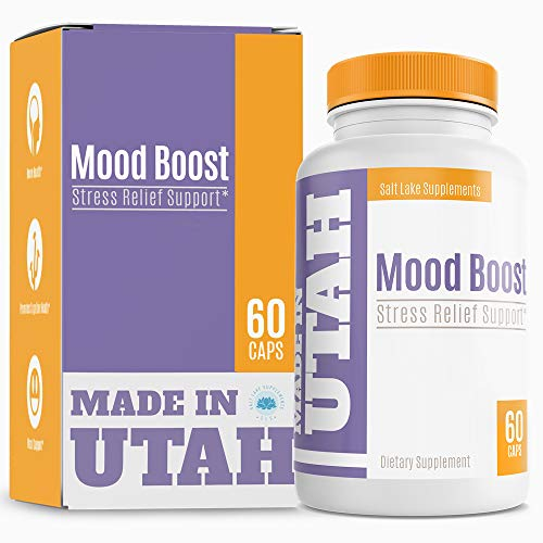 Natural Anxiety Formula & Stress Support Supplement - with All-Natural Ingredients That Helps Manage Stress and Soothe The Mind, Boosts Serotonin to Keep You Calm and Happy