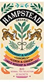 Colección de infusiones orgánicas de Hampstead: menta, manzanilla, limón y jengibre, rosa mosqueta e hibisco - 4 sabores x 5 bolsitas de té cada una (28,75 gramos)