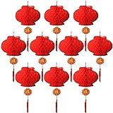 10 Stück rot Laterne Festival Dekoration für Hochzeit, New Jahr, Chinesisches Frühlingsfest, Hochzeit, Restaurant Dekoration