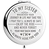 DIDADIC Sister Gifts from Sister Brother, Sisters Birthday Gift Ideas, for Girls, Engraved Gifts for...