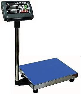 Báscula de plataforma (300 kg/50 g, digital, superficie de 40 x 50 cm, posibilidad de funcionamiento con pilas)