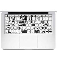 igsticker MacBook Air 13inch 2010 ~ 2017 専用 キーボード用スキンシール キートップ ステッカー A1466 A1369 Apple マックブック エア ノートパソコン アクセサリー 保護 016122 人間 イラスト