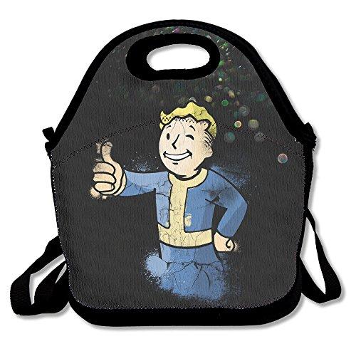 Bekey Fallout Boy Lunchbox für Damen, Erwachsene, Kinder, Mädchen, für Reisen, Schule, Picknick, Lebensmitteltasche