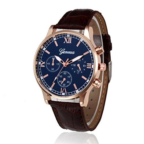 Clearance!!! Siviki Retro Design Leather Band Analog Alloy Quartz Wrist Watch (Brown)