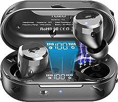 TOZO T12 bezprzewodowe słuchawki Bluetooth ze sterowaniem dotykowym i bezprzewodową walizką do ładowania, cyfrowy...